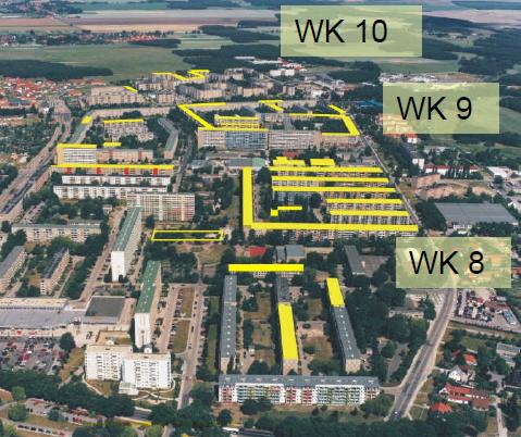 Hoyerswerda Neustadt, Wohnkomplexe 8, 9 und 10